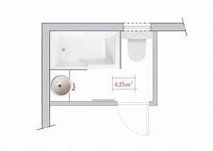 ordinaire plan de salle de bain 6m2 14 amenager salle With plan salle de bain 6m2