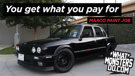 maaco paint job review bmw e30 you get what you pay for