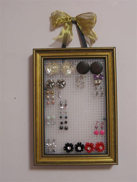 stud earring organizer     jewelry frame