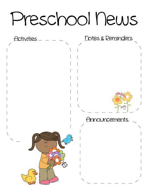 spring preschool newsletter template preschool