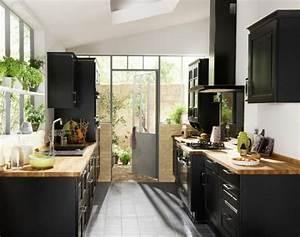 17 meilleures idees a propos de cuisines noires sur With plan de maison facade 18 cuisine industrielle lelegance brute en 82 photos