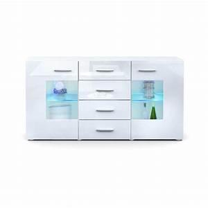 Günstige Sideboards Weiß Hochglanz : sideboard gr mitz in hochglanz led teilglast ren ~ Bigdaddyawards.com Haus und Dekorationen