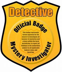Clipart - Detective Badge