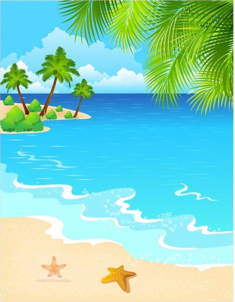 Vector Beach Scene Free Vector Download (1,380 Free Vector