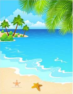 Drawing beach scene free vector download (90,639 Free ...