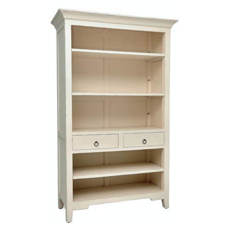 distressed wood bookcase wooden bookcase in light distressed linen finish walmart
