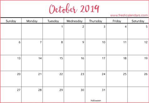 blank october calendar printable templates