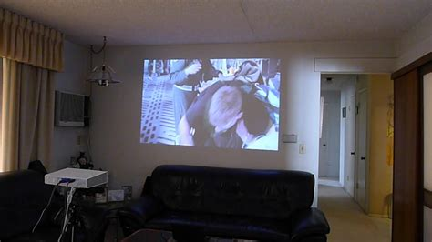 projector for bedroom wall lg pa70g led projector soft lighted room demo test