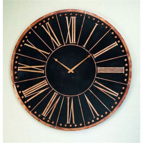 Accent Wall Clock by Dr Livingstone I Presume Antique Black Oversized Iron