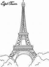 Paris Coloring Eiffel Tower Pages sketch template
