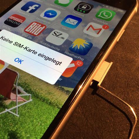 iphone sim karte austauschen aber stimmgabel verlegt