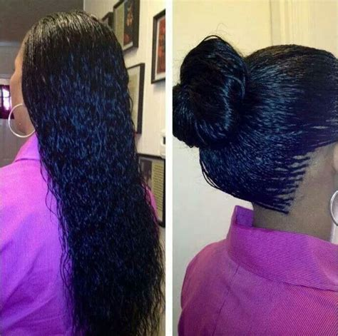 wet and wavy micro braids hair beauty pinterest