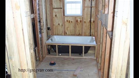 How To Install Tub Wiring by Easy Bathtub Installation Tip For New Home Construction