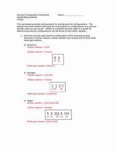 Electron Configuration Wkst Key