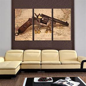 Aliexpresscom buy classical map with gun home wall for Best brand of paint for kitchen cabinets with cowboy canvas wall art