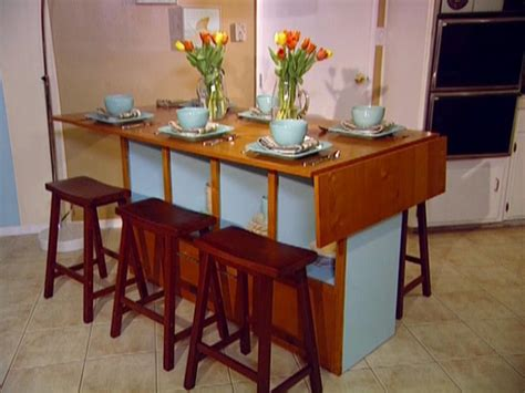 high kitchen table with storage build a bar height dining table hgtv 7051