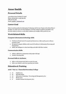 15 Year Olds Resume Examples First Job Resume Student