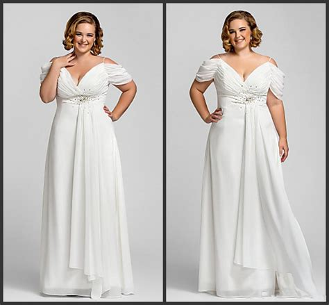 empire wedding dresses new shoulder empire chiffon plus size 3901