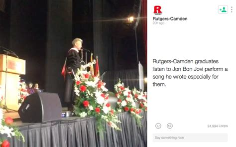 Bon Jovi Rutgers Camden Grads Start Your Own