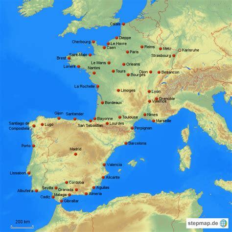 landkarte frankreich spanien portugal kleve landkarte