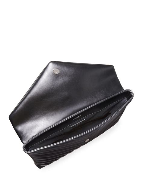 saint laurent leather monogram loulou quilted document holder  black lyst