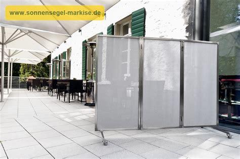 Paravent Für Garten Und Terrasse by Sichtschutz Balkon Mit Sonnensegeln Balkonumrandung