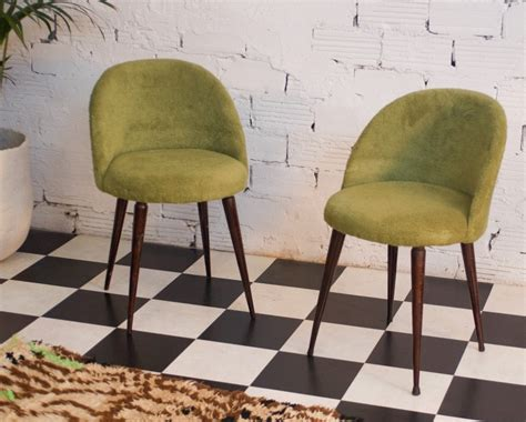 vintage hairdresser chairs apple green color