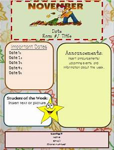 little miss kim39s class editable newsletters With free november newsletter templates
