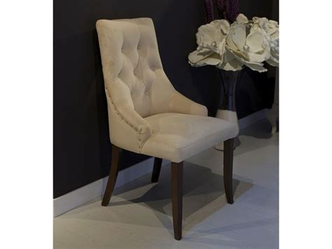 chaise capitonn chaise avec assise et dossier garni en tissu avec