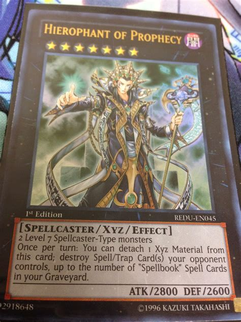 awesome card card discussion hierophant of prophecy