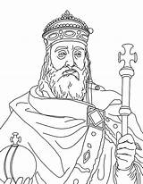 Coloring Charlemagne King Clipart Colouring Kidsplaycolor Cliparts Sheets Printable Library Barbie sketch template
