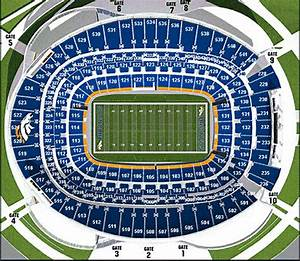 Sports Authority Field At Mile High Denver Co Seating