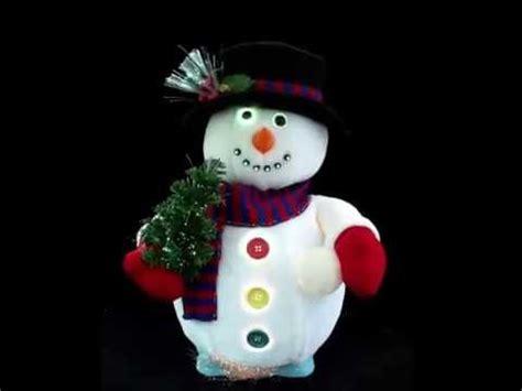 animated fiber optic snowman youtube