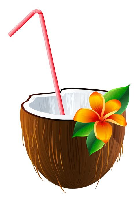 Drink Clip Coconut Clipart Coconut Cocktail Pencil And In Color