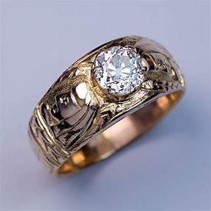 Men s vintage diamond rings wedding promise diamond for Mens vintage wedding ring