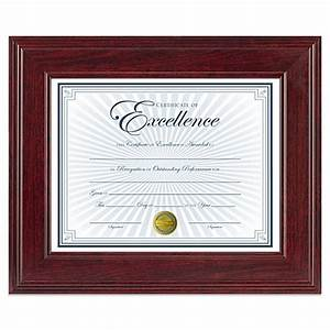 85 inch x 11 inch document wood frame in executive With 8 5 x 11 document frame