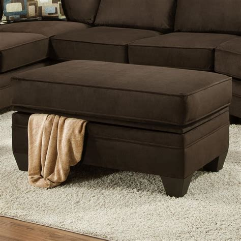 Ottoman Furniture by American Furniture 3810 Storage Ottoman For Sectional Sofa