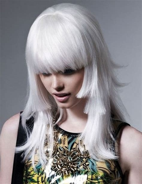 White Hair Pictures by Snow White Hair Dye 6 Frosty White Hair Chalks Hairchalk