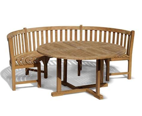 henley teak garden table  bench set