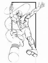 Coloring Daredevil Printable Superheroes Bullseye Popular Library Clipart Flash Superhero Template Coloringhome Line sketch template