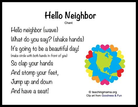 8 songs to begin a preschool day 395 | Hello Neighbor