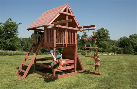 backyard playset best small swing sets for smaller backyards juggling act
