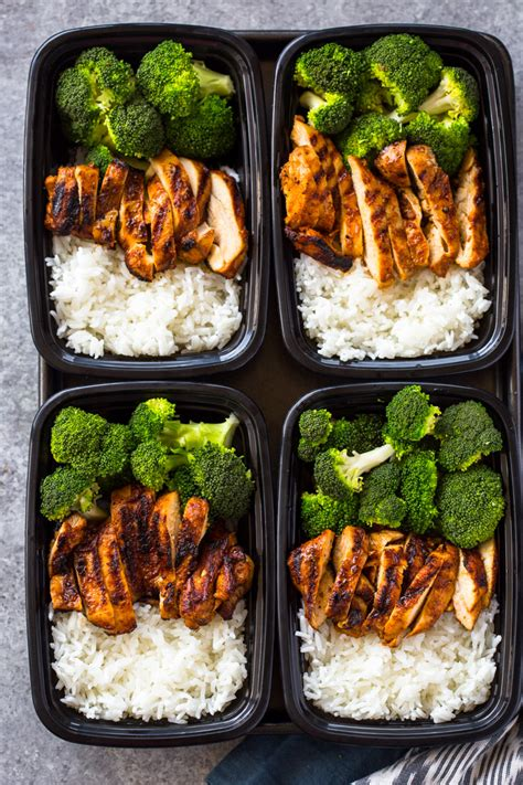 minute meal prep chicken rice  broccoli gimme