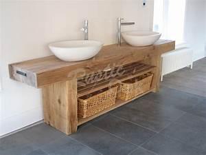 Oak Beam Sink Unit - Rustic Oak