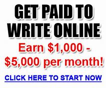 Image result for get paid to write online