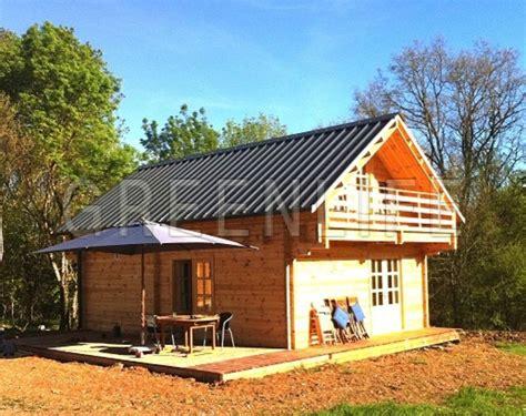 chalet bois en kit chalet bois mareva 96 maison bois greenlife