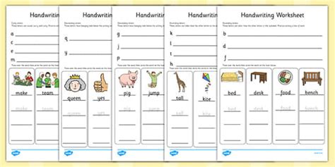 handwriting worksheets letter formation