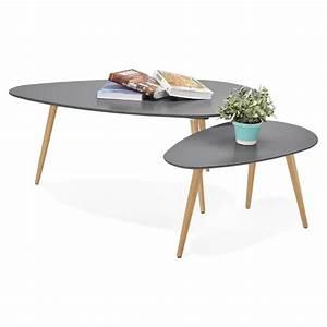Table Basse Gigogne Scandinave : tables basses design ovales gigognes golda en bois et ~ Voncanada.com Idées de Décoration