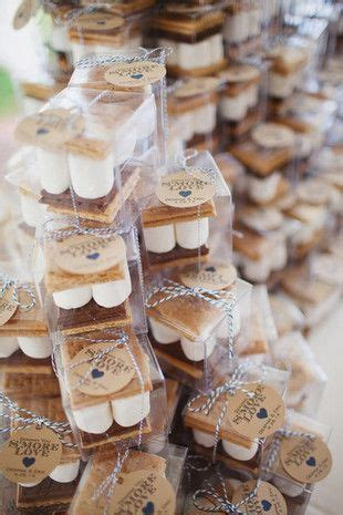 summertime wedding smore treats  guests pictures