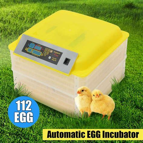 100W 112 Eggs Electronic Digital Incubator Hatcher Double ...